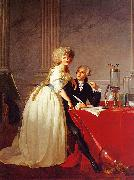 Jacques-Louis David Portrait of Monsieur Lavoisier and His Wife oil painting artist