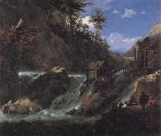 Jan Asselijn Landscape with Waterfall oil painting picture wholesale