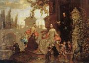 Jan Van Kessel the Younger Portrait of a Family in a Garden oil painting picture wholesale