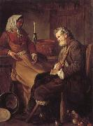 Jean-Baptiste marie pierre Old Man in a Kitchen oil painting artist