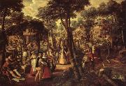 Joachim Beuckelaer A Village Celebration oil painting artist