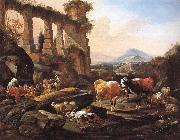 Johann Heinrich Roos Landscape with Shepherds and Animals oil painting picture wholesale