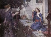 John William Waterhouse The Annunciation oil painting picture wholesale