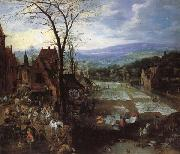 Joos de Momper A Flemish Market and Washing-Place oil painting picture wholesale