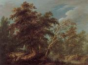 KEIRINCKX, Alexander Hunters in a Forest oil painting artist