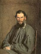 Kramskoy, Ivan Nikolaevich Portrait of the Writer Leo Tolstoy oil painting picture wholesale