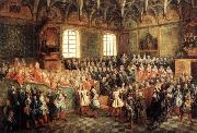 LANCRET, Nicolas The Seat of Justice in the Parliament of Paris in 1723 oil painting picture wholesale