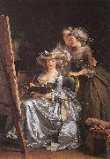 Labille-Guiard, Adelaide Self-Portrait with Two Pupils oil painting artist