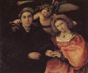 Lorenzo Lotto Portrait of Messer Marsilio and His Wife oil painting picture wholesale