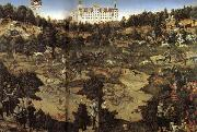 Lucas Cranach AHunt in Honor of Charles V at Torgau Castle oil painting picture wholesale