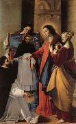 MAINO, Fray Juan Bautista The Virgin,with St.Mary Magdalen and St.Catherine,Appears to a Dominican Monk in Seriano oil painting picture wholesale