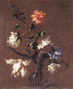 Mario Dei Fiori Theee Caper Flower,a Carnation,a Bindweed,and a Tulip oil painting picture wholesale