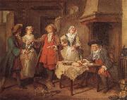 Nicolas Lancret The Marriage Contract oil painting picture wholesale
