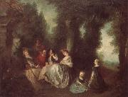 Nicolas Lancret Garden Party oil painting picture wholesale