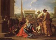 Nicolas Poussin Rest on the Flight into Egypt oil painting picture wholesale