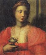 PULIGO, Domenico Portrait of a Woman Dressed as Mary Magdalen oil painting picture wholesale
