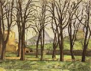 Paul Cezanne Chestnut Trees at the jas de Bouffan in Winter oil painting picture wholesale