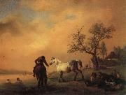 Philips Wouwerman Horses Being Watered oil painting picture wholesale