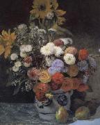 Pierre Renoir Mixed Flowers in an Earthenware Pot oil painting picture wholesale
