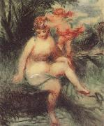 Pierre Renoir Venus and Cupid (Allegory) oil painting picture wholesale