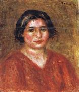 Pierre Renoir Gabrielle in a Red Blouse oil painting picture wholesale