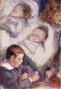 Pierre Renoir Studies of the Berard Children oil painting picture wholesale