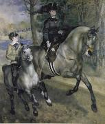 Pierre-Auguste Renoir Ride in the Bois de Boulogne (Madame Henriette Darras) oil painting picture wholesale