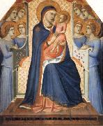 Pietro Lorenzetti Madonna and Child Enthroned with Eight Angels oil painting picture wholesale