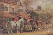 Pollard, James A Meet Outside The Swan inn oil painting picture wholesale