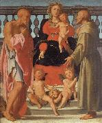 Pontormo Madonna and Child with SS.Jerome and Francis and Two Angels oil painting picture wholesale