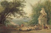 ROBERT, Hubert Terrace Ruins in a Park oil painting picture wholesale