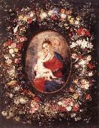 RUBENS, Pieter Pauwel The Virgin and Child in a Garland of Flower oil painting picture wholesale