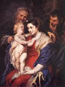 RUBENS, Pieter Pauwel The Holy Family with St Anne oil painting picture wholesale