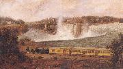 Robert Whale The Canada Southern Railway at Niagara oil painting artist