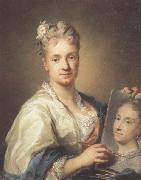 Rosalba carriera Self-portrait with a Portrait of Her Sister oil painting picture wholesale