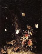 SCHRIECK, Otto Marseus van Reptiles,Butterflies,and Plants at the Base of a Tree oil painting picture wholesale