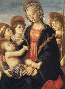 Sandro Botticelli Madonna and Child,with the Young St.John and Two Angels oil painting picture wholesale