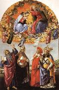 Sandro Botticelli The Coronation of the Virgin with SS.Eligius,John the Evangelist,Au-gustion,and Jerome oil painting picture wholesale