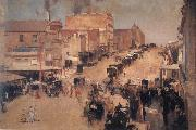 Tom roberts Allegro con brio:Bourke Street oil painting picture wholesale
