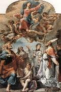 Ubaldo Gandolfi Madonna in Glory and Saints oil painting