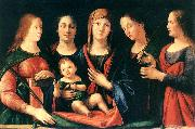 VIVARINI, family of painters Mary and Child with Sts Mary Magdalene and Catherine oil painting picture wholesale