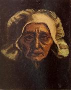 Vincent Van Gogh Head of an old Peasant Woman with White Cap (nn04) oil painting picture wholesale
