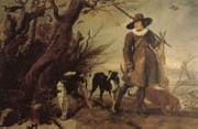WILDENS, Jan A Hunter with Dogs Against a Landscape oil painting picture wholesale