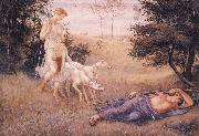 Walter Crane Diana and Endymion oil painting picture wholesale
