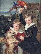 William Charles Ross Prince Ernest and Prince Edward of Leiningen oil painting picture wholesale