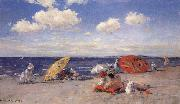 William Merrit Chase At the Seaside oil painting artist