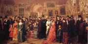 William Powell  Frith Private View of the Royal Academy 1881 oil painting picture wholesale