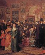 William Powell Frith The Private View of the Royal Academy oil painting artist