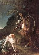 jean-Baptiste-Simeon Chardin Game Still-Life with Hunting Dog oil painting picture wholesale
