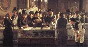john henry henshall,RWS Behind the Bar oil painting picture wholesale